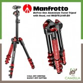 Manfrotto BeFree One Aluminium Travel Tripod with Head, red MKBFR1A4R-BH