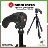 Manfrotto Compact Action Aluminum Tripod (Black) MKCOMPACTACN-BK