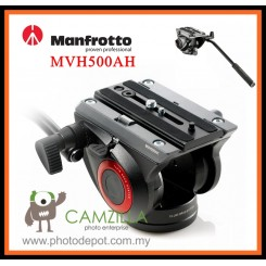 MANFROTTO ( MVH500AH ) 500 701 FLAT BASE PRO FLUID HEAD - BLACK