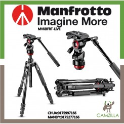 MANFROTTO Befree live Aluminium tripod twist, video head  Video tripod kit built for travel performance