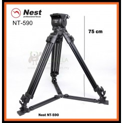NEST NT-590 170cm Heavy Duty Video Tripod with Fluid Head 590H (100mm Bowl)
