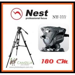NEST NT-777 Professional 180cm 1.8m DSLR Camcorder Tripod+ Fluid Video Head Kit