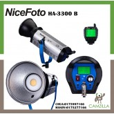 NiceFoto HA-3300B 330W COB LED Video Light 5500 Daylight 65200lux@1m Bowens Mount,CRI&TLCI96 with 2.4G 16 Channels Remote Control
