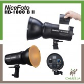 NiceFoto 100W HB-1000B II Battery powered COB LED Video Light for Photo professional video light 5600K