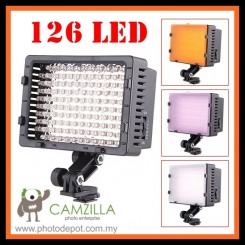 Camzilla Pro CN-126 LED Camera Video lamp Light for DV Camcorder & Dslr
