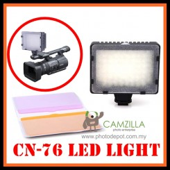 Camzilla Pro CN-76 LED Camera Video lamp Light for DV Camcorder & Dslr