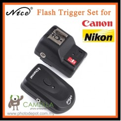 Nice PT-04GY Remote Radio Wireless Flash Trigger Set for Canon / Nikon Camera