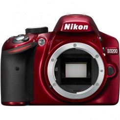 Nikon D3200 RED Digital SLR Camera Body Free 8GB + Bag