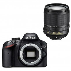 Nikon D3200 BLACK Digital SLR Camera 18-105mm Lens Kit Free 8GB + Bag