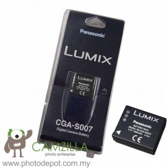 PANASONIC CGA-S007, CGAS007 OEM Camera battery, High Capacity 1000mAh