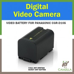 CGR-D16S Lithium-Ion Battery For Panasonic - Rechargeable Ultra High Capacity (1600 mAh)