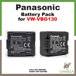 Panasonic VW-VBG130 Lithium Battery for HDC-HS700, TM700, HS300, TM300, HS250, SD20, HS20, HDC-SDT750 Camcorders
