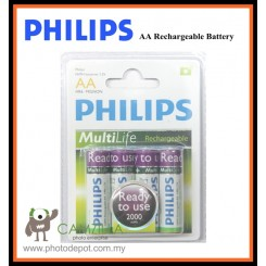 Philips Ready to Use MultiLife Rechargeable 4 x AA 2000mAh Battery Pack