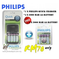 Philips SCB4381 Quick Charger with 8 psc MultiLife AA Batteries
