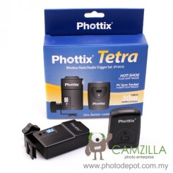 Phottix Tetra (PT-04 II) 4-Channel Wireless Flash Remote Trigger Set (Trasmitter + Receiver)