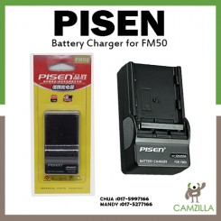 Pisen Camera Battery Charger for Sony FM50