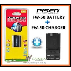 PISEN FW50 Battery For Sony A5000 / A6000 / NEX + FW-50 Battery Charger