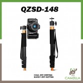 QZSD Q148 Mini Monopod Selfie Stick Camera Monopod with Mini Ball Head for DSLR Camera