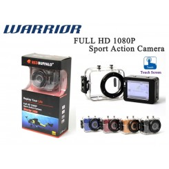 Red Buffalo Digital Waterproof Camcorder Warrior 2400 Full HD1080P touch sereen