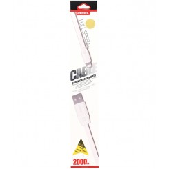 REMAX FULL SPEED SERIES 2000MM CABLE QUICK CHARGE & DATA FOR IPHONE-WHITE