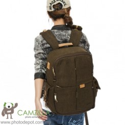 RUSH R6724 Professional DSLR Camera Bag / Backpack - Brown