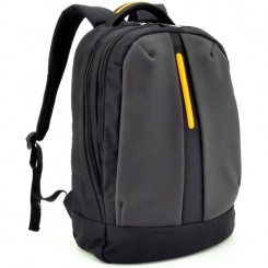 BAGMAN S02-157LAP-05 LAPTOP BACKPACK - BLACK ORANGE