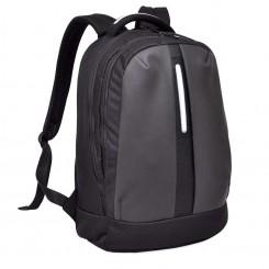 BAGMAN S02-157LAP-07 LAPTOP BACKPACK - BLACK GREY