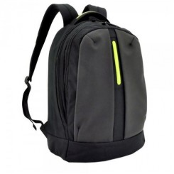 BAGMAN S02-157LAP-19 LAPTOP BACKPACK - BLACK GREEN