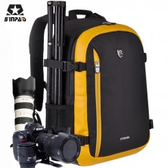 SINPAID SY-01 Sinpaid Double Shoulders Camera Backpack Water-proof Professional SLR Bags - YELLOW