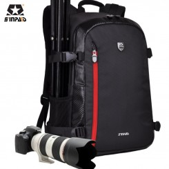 SINPAID SY-01 Sinpaid Double Shoulders Camera Backpack Water-proof Professional SLR Bags - RED