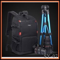 SINPAID SY-07 Professional DSLR Camera Bag Travel Waterproof  Backpak - Black