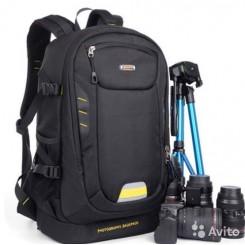 SINPAID SY-08 DSLR high capacity waterproof photo video camera bag - Black