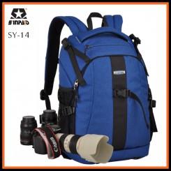 Sinpaid SY-14 Dslr SLR Camera Backpack Bag Case Travel Laptop Bag (BLUE)