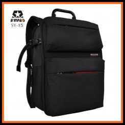 SINPAID SY-15 Professional DSLR Camera Bag Travel Waterproof 15.6inch Laptop Backpak - Black