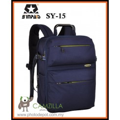 SINPAID SY-15 Professional DSLR Camera Bag Travel Waterproof 15.6inch Laptop Backpak  - Blue
