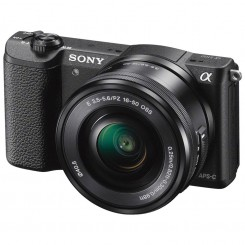 Sony Alpha a5100 E-mount Mirrorless Camera ( White / Black ) + 16-50mm Power Zoom Lens  ILCE-5100L