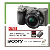 (SALES) Sony A6000 Mirrorless Digital Camera with 16-50mm Lens (Grey) (Free Sony 16GB & Extra Original Battery ) (Sony Malaysia)