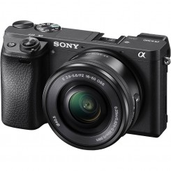 SONY Alpha α6300 E-mount Mirrorless Camera Body only ( Black ) + 16-50mm Power Zoom Lens