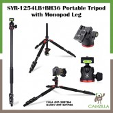 SYR-1254LB+BH36 Portable Tripod with Monopod Leg