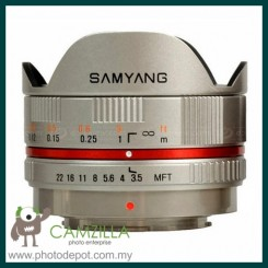 Samyang 8mm f/2.8 UMC Fisheye Lens for Sony NEX (Silver)