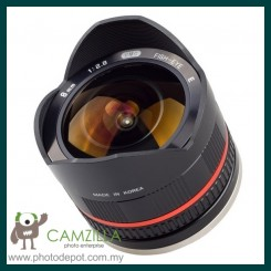 Samyang 8mm f/2.8 UMC Fisheye Lens for Samsung NX (Black)