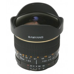 Samyang 8mm f/3.5 IF MC Fish-eye Lens for Canon EOS Mount - (Free Shipping)