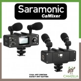 Saramonic CaMixer Microphone Kit with Dual Stereo Condenser Mics, Digital Mixer & XLR/Mini-XLR Input with +48V Phantom Power Preamp - For DSLR Cameras and Camcorders