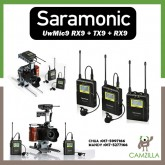 UWMIC9 (RX9+TX9+TX9) 96-Channel Digital UHF Wireless Lavalier Microphone System with 2 Bodypack Transmitters, Portable Receiver, 2 Lav Mics, Shoe Mount, XLR/3.5mm Outputs