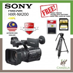 SONY HXR-NX200 NXCAM 4K CAMCORDER (SONY MALAYSIA)  Free Video Tripod & Sony 32gb pro sd card