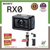 SONY 4K ACTION CAMERA RX0 + Micro 32gb Memory Card x 2 + Case + Hakuba Tripod set (Original Sony Warranty)