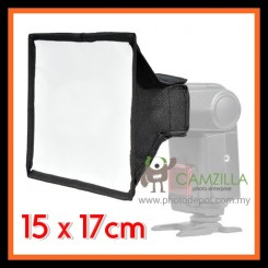 Camzilla SB1517 Universal Flash Softbox Diffuser for Canon Nikon Sony Nissin Yongnuo