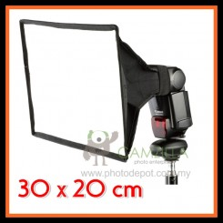 Camzilla SB3020 Universal Flash Softbox Diffuser for Canon Nikon Sony Nissin Yongnuo