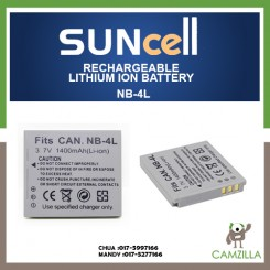 Suncell NB-4L Camera Battery, Li-ion,1400mAh