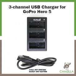 Suncell 3-channel USB Charger for GoPro Hero 5 CH-GP5